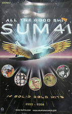 Sum 41 All The Good Sh*t, orig Island 2-sided promo poster, 2009, 11x17, Ex!