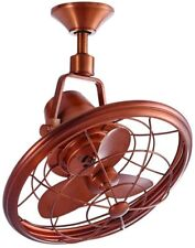 18 in. Oscillating Ceiling Fan Weathered Copper Indoor Outdoor Wall Control