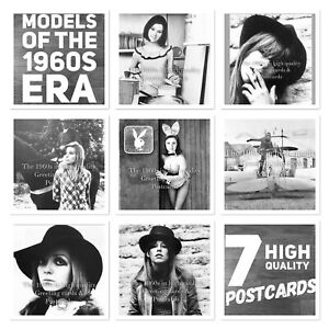S27. Models Of The 1960's Era. 7 High Quality Postcards. Sixties Fashion