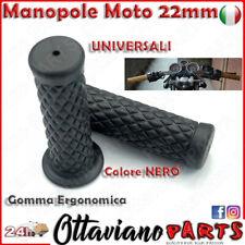 Coppia 22mm 7/8 ' Manopole Moto Universali Manubrio Gomma Cafe Racer Nero M88