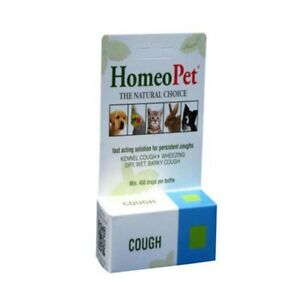 HomeoPet Cough 15ml for Pet Dogs, Kennel Barky, Wet, Dry Wheezing Cough relief