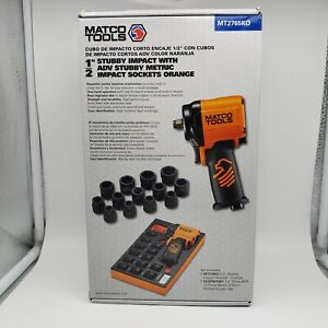 "New Matco Tools 1/2"" Drive Stubby Impact Bundle Orange Edition MT2765"