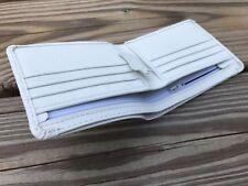 White Wallet Supreme Genuine Leather Card Holder Bifold Men Handmade Purse