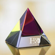 "Small Feng Shui Egypt Egyptian Crystal Rainbow Pyramid Healing Prizm Amulet 2"" H"
