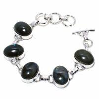 "Labradorite Handmade Ethnic Style Jewelry Bracelet 7-8"" VJ-7049"