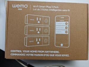 3 Pack WeMo WiFi Enabled Mini Smart Plug - White (F7C063)