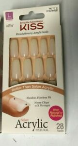 Kiss Natural Glue On Nails Salon Acrylic 76712 KSAN05 LONG LENGTH