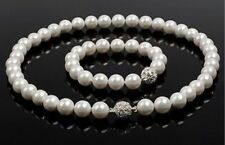 Sea Aaa+ Pearl Necklace 18 Inch Charming Elegant 10-11Mm Tahitian Black South