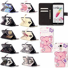 Stand Flip Leather Skin Wallet Cover Case Accessories For Multi LG Phone Moldes