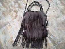 Authentic Stella McCartney Mini Fringe Falabella Chain Strap Tote Bag