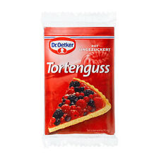 Dr.Oetker Tortenguss - Red Glaze for pastries - Pack of 3-Made in Germany-