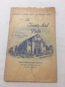 Charles L. Allen Change Your Life In Seven Days Methodist 1952 Pamphlet