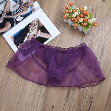 XL Sissy Men Lace Pouch Bulge Bikini G-String Lingerie Thong Panty Underwear
