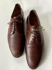 Edward Green Brown Leather Plain Toe Blucher Dress Shoes Size 8.5 *England*