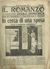Il Romanzo della Domenica - In Cerca di Una Sposa di Gregor Samarow 1912