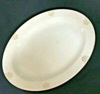 "Antique Ideal Porcelain Co Oval Platter Gold Border Pattern Serving Dish 13""x10"""