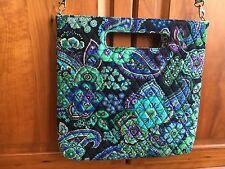 "Vera Bradley - Purse Blue Rhapsody Tote Bag / Shoulder Bag 14"", Removable Strap"