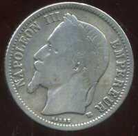 FRANCE 1 franc  1866 BB    NAPOLEON III   argent  silver  ( 1 )
