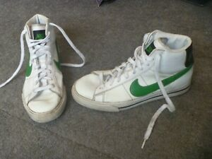 NIKE -Sweet Classic High-  Mens Trainers - Size 7 UK- White Leather-Boots-Blazer