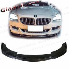 H Look Carbon Fiber Front Bumper Extension Lip For 12-16 BMW F06 F12 F13 M-Sport