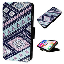 Aztec Pattern - Flip Phone Case Wallet Cover Fits Iphone & Samsung 1