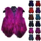 Womens Fox Fur Waistcoat Gilet Jacket Coat Sleeveless Outwear Winter Short Vest