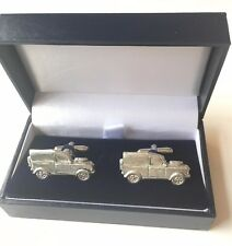Personalised Land Rover Crafted From Pewter Cuff Links (N376)