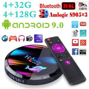 8K 4+32/128G H96 MAX X3 Android 9.0 TV BOX 5G WIFI BT4.0 Quad Core Media Player