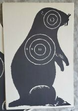64 Large Vintage Woodchuck Shooting Targets Gopher Prairie Dogs Hunting Paper