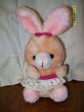 """Russ Berrie Peaches Bunny Rabbit Plush 10"""""""