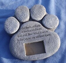Pet Memorial Picture Frame Marker Faux Stone