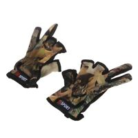 Fishing Gloves 3 Cut Finger Slit Outdoor Anti Sports Slip Breathable Camouflage