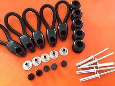 UTE TONNEAU REPAIR KIT LOOPS 80 MM + BUTTONS BLACK x 5 INC POSTAGE