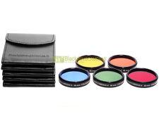 49mm. set 5 filtri colorati Blackdove-cameras. Rosso Arancione Giallo Verde Blu.