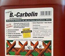 (GP.1,70€/L) 10 L Carbolin Holzschutzlasur Zaunlasur Holzlasur Farbe Holzschutz
