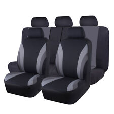 Universal Breathable Auto Car Seat Covers Gray 11 Pieces For SUV VAN Truck Sedan