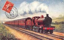 CPA THEME TRAIN SCOTCH EXPRESS OILETTE