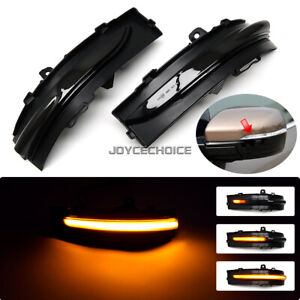 For Ford Edge ST 15-19 Car LED Dynamic Turn Signal Side Mirror Sequential Light