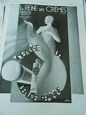 Publicité advertising 1931  La Reine des Crème beauté féminine