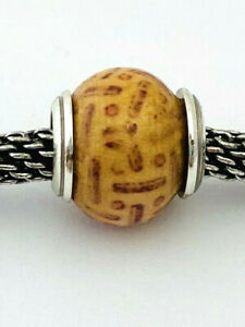 Brighton Henna Punjab Bead J93242 Silver/Wood, New