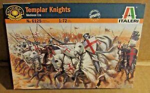 ITALERI TEMPLAR KNIGHTS 1:72 SCALE MODEL SOLDIERS MEDIEVAL HORSES RIDERS