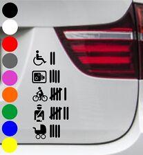 WD Autoaufkleber STRICHLISTE BLITZER TALLY LIST Tuning Aufkleber Sprüche Sticker