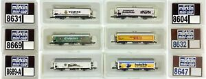 MARKLIN Z SCALE 6 Assorted Freight Cars  C8 Marklin Original Boxes