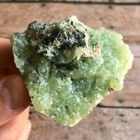 "Prehnite Crystal Cluster: 2.2"" Long, 1.8 oz (52 g) Raw Rough Mineral Display"