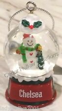 Personalized Snow Globe Ornament - Chelsea - FREE Shipping