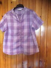 Ladies EWM Checked Shirt Size 18