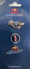 Authentic Red Bull Racing F1 Formula One Lapel Pin Set, 3 Pins, NIP