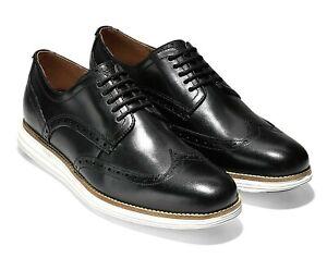 Cole Haan Men's Original Grand Shortwing Oxford Shoes Black White C26469 Size 15