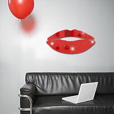 3D Mirror Kiss Lip Wall Sticker DIY Art Mural Home Decor Acrylic Decals Stickers