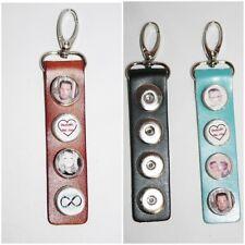 Schlüsselanhänger inkl. 4 Fotobuttons schwarz passend für Noosa & Chunks